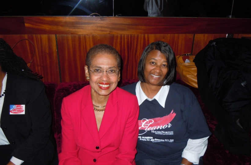 Eleanor Holmes Norton and Jackie Pelt