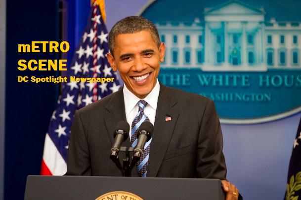 mETRO SCENE - Obama smiling