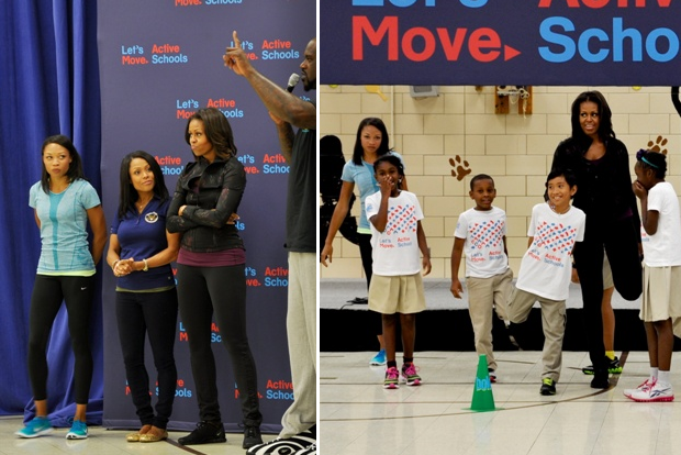 Let's Move Orr School Michelle Obama