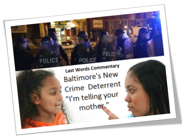 DC SPOTLIGHT - PHOTOS - BALTIMORE RIOTS (WC-VOA) Last Words 1 Postcard