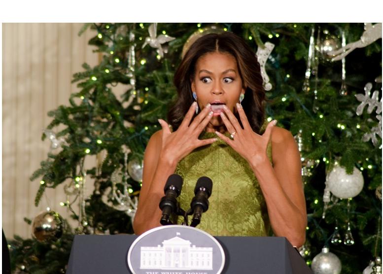 Michelle Obama 2015 Christmas