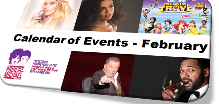 CALENDAR OF EVENTS – FEBRUARY 2016 – 50 Fun Things to Do