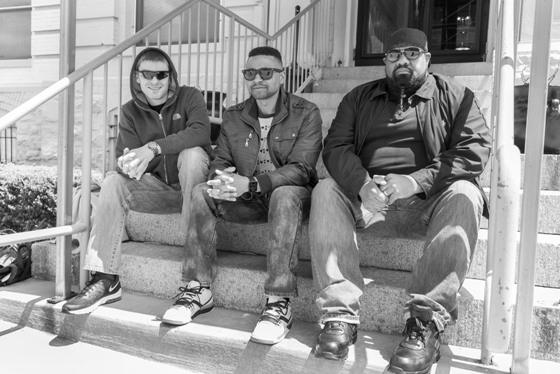 WORDSMITH - THE CREW AND WORDSMITH ON STEPS -SMALL