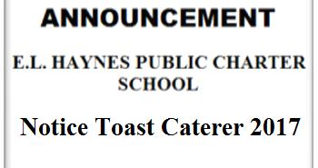 AD ART - E.L.HAYNES444 - 07-17-2017 - Notice Toast Caterer 2017