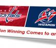 2017 Washington Capitals and Wizards winning ends headed